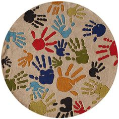 Momeni Lil' Mo Lil Mo Whimsy Ivory Finger Paint Kids Area Rug Rug Size: