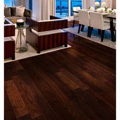 Walnut Apache x 6 x Select Wear Layer Hand-Distressed- Engineered Prefinished Flooring Walnut Hardwood Flooring, Hardwood Floor Colors, Installing Hardwood Floors, Engineered Hardwood, Plywood Floors, Modern Flooring, Flooring Ideas, Flooring Companies, Living Room Inspiration