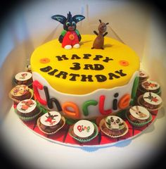 Charlie's CBeebies Bing bunny 3rd birthday cake ❤️