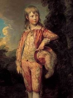 young boy portrait painting wearing pink outfit