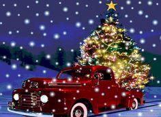 "Photo from album ""Новогодние on - Weihnachten, Chrismas, Navidad, Noel, - Christmas Merry Christmas Animation, Christmas Scenes, Noel Christmas, Christmas Greetings, Winter Christmas, Christmas Lights, Vintage Christmas, Christmas Decorations, Xmas"