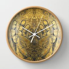 Creativity Flows Through Our Hands Wall Clock by Tika Calderon - $30.00