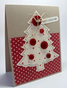 Tarjetas de Navidad Con Botones (1)