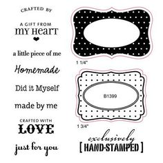 Crafted With Love Stamp set (B1399)