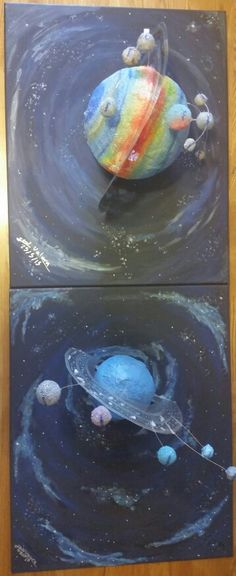 My son made this for his saturn project#2nd | school ...