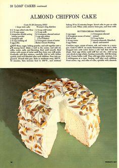 """Almond Chiffon Cake """""""