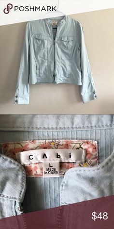 Light Blue CAbi Zip Up Blazer Jacket Fun and trendy light blue blazer by CAbi! It is perfect for any season, but especially fall and winter! It is a gorgeous fit and is in great condition! Make an offer! CAbi Jackets & Coats Blazers