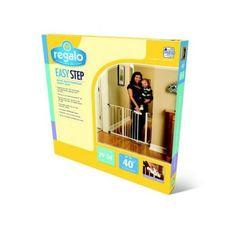 Baby Gate Regalo Easy Step Walk Thru Gate Pet Child Toddler Safety White NEW!  #Regalo