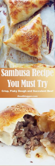 Sambusa recipe that will blow your mind. Crisp on the outside, soft and flaky on the inside shells. Meat filling is nicely textured, juicy and flavorful. A must try recipe. | i food blogger