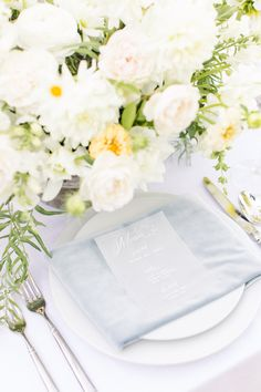 Our Cadet Blue Velvet Napkin makes this spring shoot one to remember. Ab Photo Reno: Photography Pretty Little Paper Company: Stationary Celebrations Party Rentals: Chairs Roundabout Catering and Rentals Zuri Floral Design: Floral Lake Tahoe Cakes