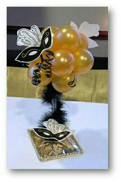 Centerpiece for Masquerade party