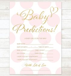 Hey, I found this really awesome Etsy listing at https://www.etsy.com/listing/209289483/baby-prediction-card-pink-polka-dots                                                                                                                                                                                 More