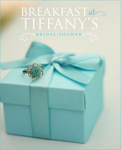 "Bridal Shower Ideas, not baby shower, but I thought this would be cute for a bunch at our house, because ""Tiffany"" is in our address."