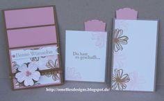 Two Pocket Card , Stampin Up , Flower Shop ,  Kandiszucker , Kirschblüte, Savanne, Flower Shop , Einigartig , Kleiner Wortschatz , Taschenkarte
