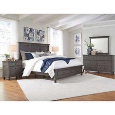 norah 6 piece king storage bedroom set bedroom furniture bedroom rh pinterest com