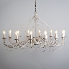 Candelabro ZERO BRANCO 12 taupe  #clasica #iluminacion #decoracion