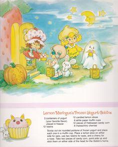 Vintage Strawberry Shortcake 1983 Sweet Treats Calendar - October