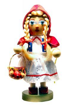 Steinbach Signed Chubby Little Riding Hood German Christmas Nutcracker