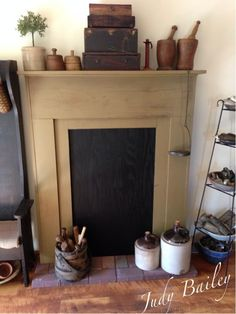 27 best primitive faux fireplace mantles images primitive rh pinterest com