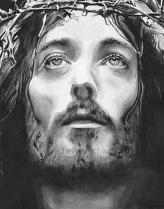 Jesus Watercolor Illustration Signed Giclee by ChelseySchweitzer