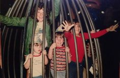 In a great family photo posted by Anna Bazzel Gray, a birthday celebration at McDonald's is depicted inside the Grimace Bounce & Bend cage!