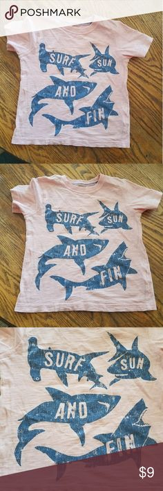 Carter's Boy Pink Shark Surf Sun and Fin t-shirt Carter's Boy Pink Shark Surf Sun and Fin t-shirt   Used in GREAT CONDITION  No rips snags or stains not faded   Color is pink (a bit darker than pictures) Size 3t   I do bundle and offers are welcome Carter's Shirts & Tops Tees - Short Sleeve