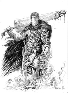 Berserk. Comission. Tinta sobre papel. 2013. Berserk. Comission. Ink over paper. 2013.