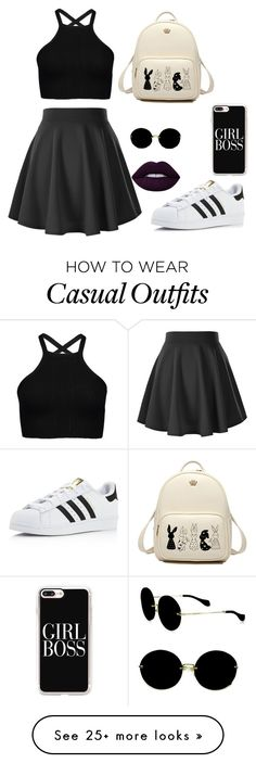 """""""casual"""" by gxals on Polyvore featuring adidas, Miu Miu and Casetify"""