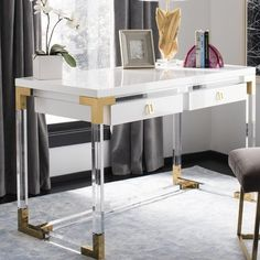 Get ideas and inspiration for your home office desk. These are the 9 most-gorgeous desks that work every decorating style you love for your home office. Furniture, Home Office Desks, Home Office Furniture, Interior, Home, Decor Interior Design, Home Office Design, White Desks, Office Design