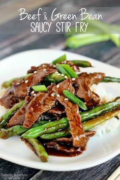Chinese Beef and Green Bean Stir Fry | This quick and easy, yet healthy and delicious recipe will be a family favorite! See recipe on TodaysCreativeLife.com