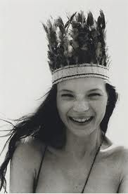 Cant recognize Kate Moss here by Corinne Day. Great head piece!