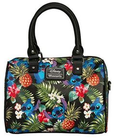 My love of purses is also a no brainer. Today's Disney discovery embraces this love. Today's Disney discovery is a Loungefly Stitch crossbody bag. Disney Handbags, Disney Purse, Disney Dooney, Pandora Bracelet Charms, Pandora Jewelry, Fashion Handbags, Purses And Handbags, Disney Stich, Floral Shoulder Bags