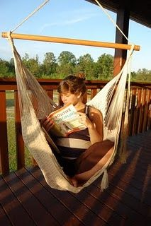 I own a hammock swing like this...just wish I had a place to hang it.
