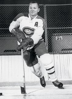 DOUG HARVEY: Harvey is regarded as one of the best defensemen to ever play in the league and has seven Norris Trophy wins to prove it. - 100 greatest players in NHL history - October 2016 Hockey Girls, Hockey Mom, Montreal Canadiens, Hockey Highlights, Maple Leafs Hockey, Hockey Pictures, Ice Hockey Teams, Pittsburgh Penguins Hockey, Of Montreal