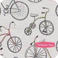 Around Town Gray Bicycles Yardage<BR>SKU