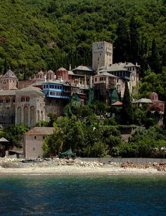 Holy monastery Dohiarioy in Agion Oros (Mount Athos), Greece The Holy Mountain, Places In Greece, Christian World, Church Architecture, What A Wonderful World, Greek Islands, Beautiful Beaches, Places To See, The Good Place