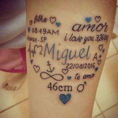 """984 Likes, 31 Comments - ♥️Filhos são Amores Eternos♥️ (@filhossaoamoreseternos) on Instagram: """"As mamães de """"Miguel"""" irão pirar!! Linda inspiração né? Encontrei ali no @juka_tattoo_art . .…"""""""