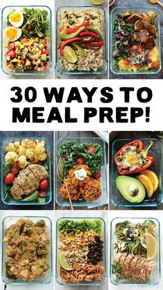 Healthy Snacks Meal Prep your way in to 2017 with 30 different ways to meal prep with recipes from Fit Foodie Finds. Get organized at the beginning of a busy week by meal prepping healthy and delicious breakfasts, lunches, dinners, snacks, and desserts! Lunch Recipes, Diet Recipes, Healthy Recipes, Diet Meals, Lunch Meals, Easy Recipes, Chicken Recipes, Week Meal Prep Recipes, Recipes Dinner