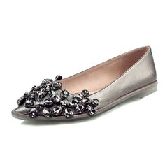Super Grace Women Flats Nice Rhinestone Pointed Toe Causal Flats Silver  Grey Shoes Woman US Size d3294837c7bf
