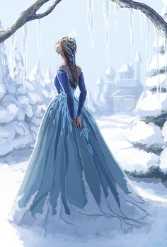 An ice queen gazing up at the sky - regal - royal - winter - snow - fantasy - past - people Book Characters, Fantasy Characters, Female Characters, Fantasy Inspiration, Character Inspiration, Character Art, Pretty Art, Cute Art, Arte Disney