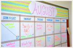 restyled dry erase board with washi tape #DIY // camille styles