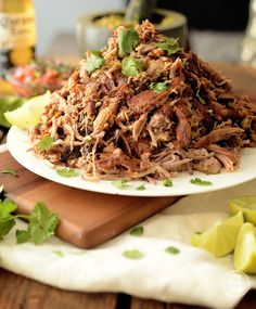 The best slow cooker carnitas recipe where slow cooking brings out the flavor and retains the moisture while keeping the meat super juicy when stored. Pork Recipes, Slow Cooker Recipes, Mexican Food Recipes, Crockpot Recipes, Cooking Recipes, Healthy Recipes, Slow Cooking, Ethnic Recipes, Chicken Pot Pie Soup Recipe