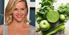 Reese Witherspoon zöld smoothie-ja a szép bőrért Reese Witherspoon, Popsugar, Fruit, The Fruit, Stay Fit