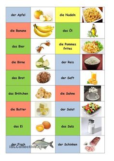 German food and drink Study German, German English, Learn German, German Grammar, German Words, Deutsch Language, Germany Language, Food Vocabulary, German Language Learning