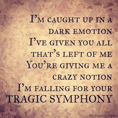 SONG: Tragic Symphony ALBUM: Anthem ARTIST: HANSON Hanson Lyrics