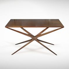 """Walnut """"Gazelle"""" Console Table   From a unique collection of antique and modern console tables at www.1stdibs.com/..."""