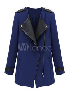 Notch Collar Coat With Zipper - Save Up to 70% Off on fabulous fashion trend products at Milano with Coupon and Promo Codes.