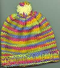 Easy knit hat for ages 3 through adult given