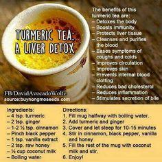 Turmeric tea liver detox