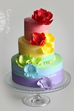Rainbow cake - Cake by Irina Kubarich.I will copy this cake . Gorgeous Cakes, Pretty Cakes, Cute Cakes, Amazing Cakes, Fancy Cakes, Mini Cakes, Cupcake Cakes, Cake Original, Gay Wedding Cakes